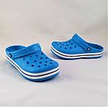 Женские Тапочки CROCS Голубые Кроксы Шлёпки Сланцы (размеры: 36,37,38,39,40,41), фото 2