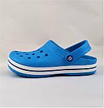 Женские Тапочки CROCS Голубые Кроксы Шлёпки Сланцы (размеры: 36,37,38,39,40,41), фото 3