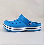 Женские Тапочки CROCS Голубые Кроксы Шлёпки Сланцы (размеры: 36,37,38,39,40,41), фото 4