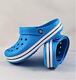 Женские Тапочки CROCS Голубые Кроксы Шлёпки Сланцы (размеры: 36,37,38,39,40,41), фото 5
