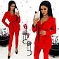 Модный красный костюм тройка (пиджак+топ+брюки), фото 3