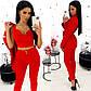 Модный красный костюм тройка (пиджак+топ+брюки), фото 4