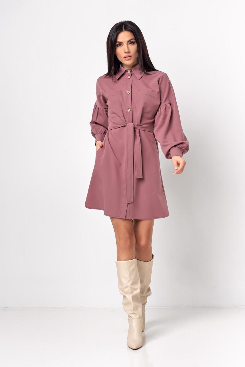 Стильное лиловое платье