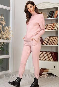 Костюм вязаный розовый универсальный 42-46