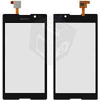 Touchscreen (сенсорный экран) для Sony Xperia C C2305 S39h, черный, оригинал