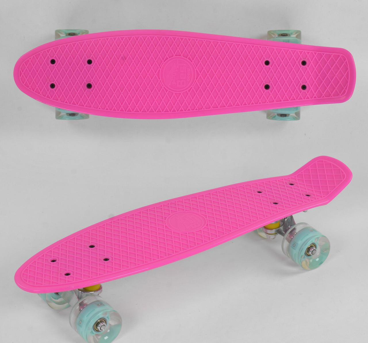 """Пенни Борд для девочки 1071 """"Best Board"""",со светящими колесами"""