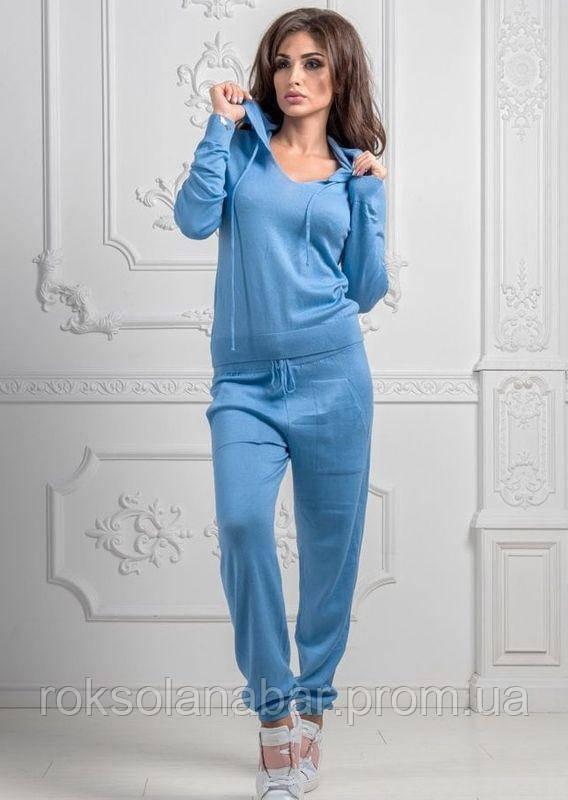 Голубой спортивный костюм турецкой вязки универсальный 42-46