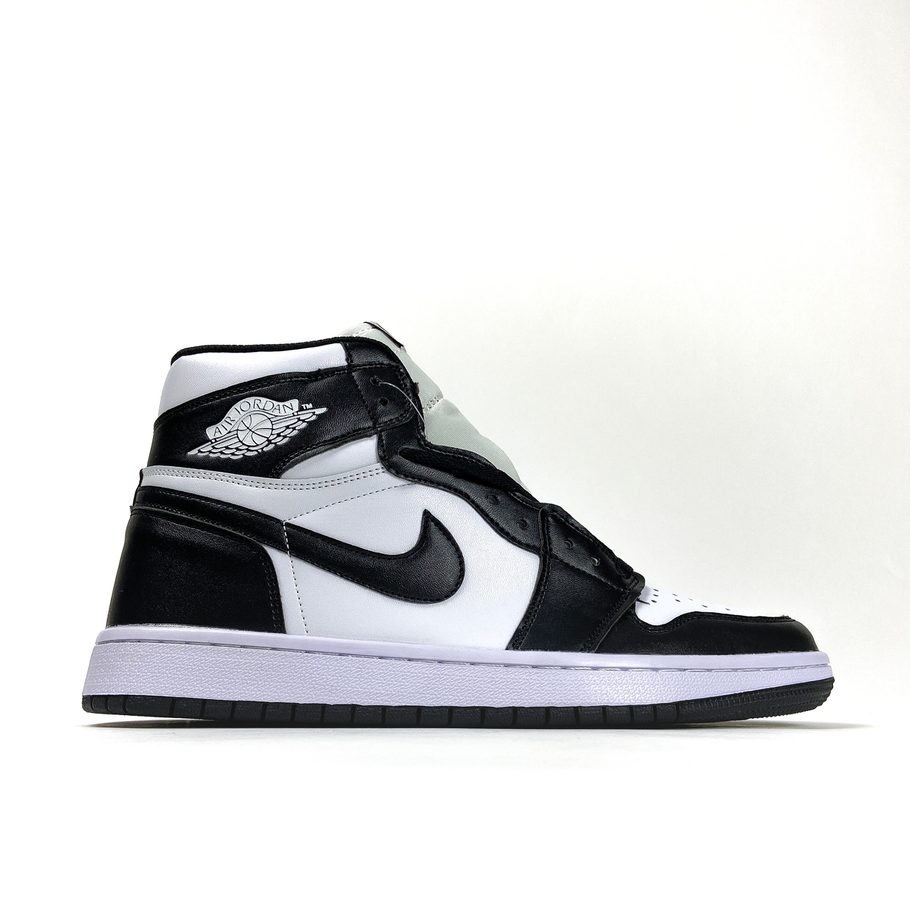 Nk, крос, обувь, взуття, sneakers, шузы, Air Jordan 1 Black White (Белый)