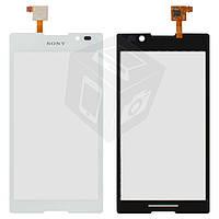 Touchscreen (сенсорный экран) для Sony Xperia C C2305 S39h, белый, оригинал