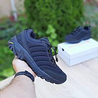 Мужская спортивная обувь Merrell Vibram (черные) О3504 ТЕРМО кроссовки