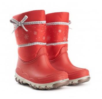 Детские зимние сапоги Красные сноубутсы