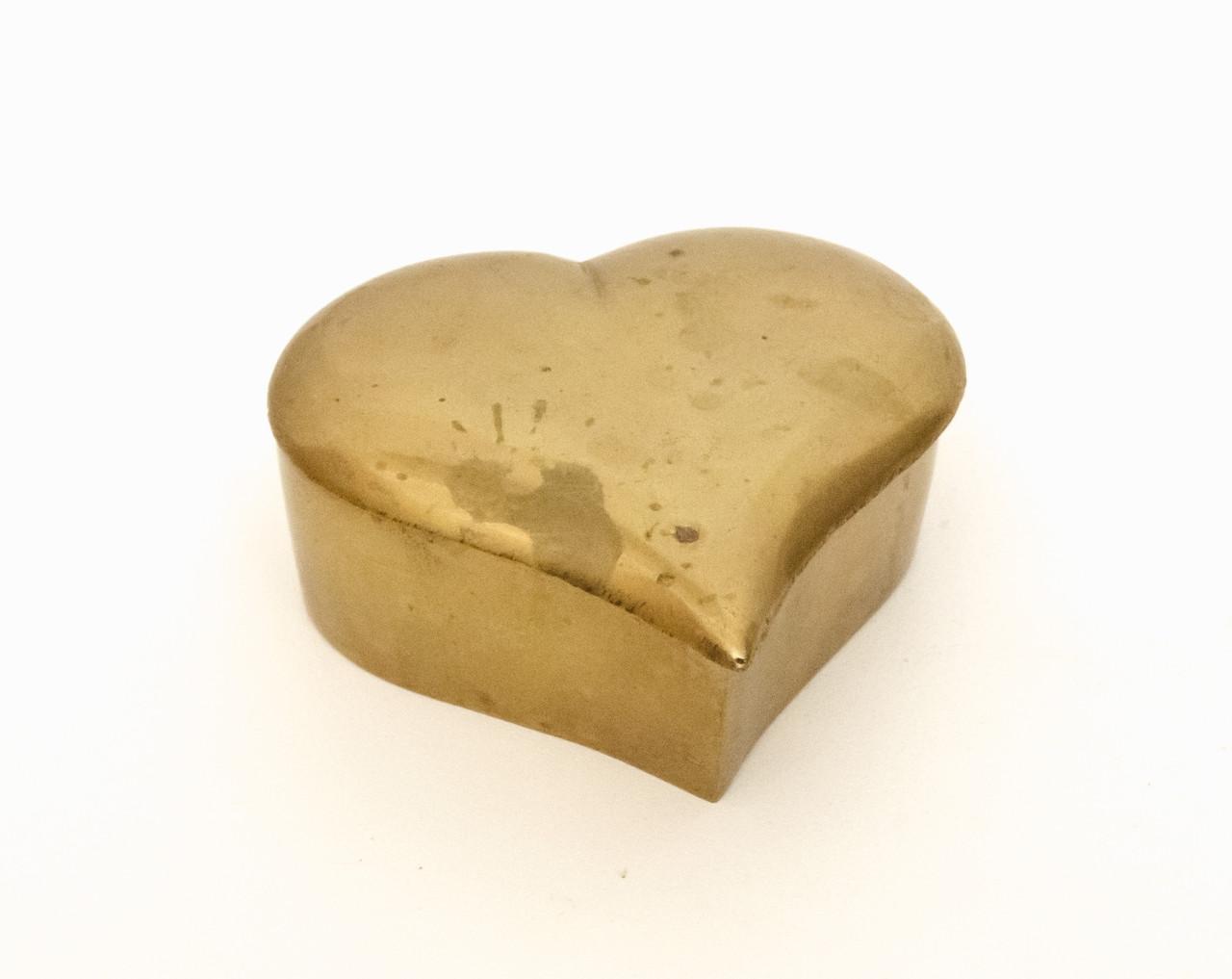 Старая шкатулка, латунь ,Германия, сердце, 8 см