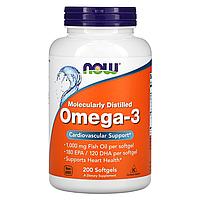 Omega 3 200caps | NOW | Рыбий жир | Омега 3