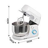 Кухонный комбайн, блендер,тестомес Haeger (4 в 1) 1000 Вт Белый, фото 3