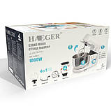 Кухонный комбайн, блендер,тестомес Haeger (4 в 1) 1000 Вт Белый, фото 4