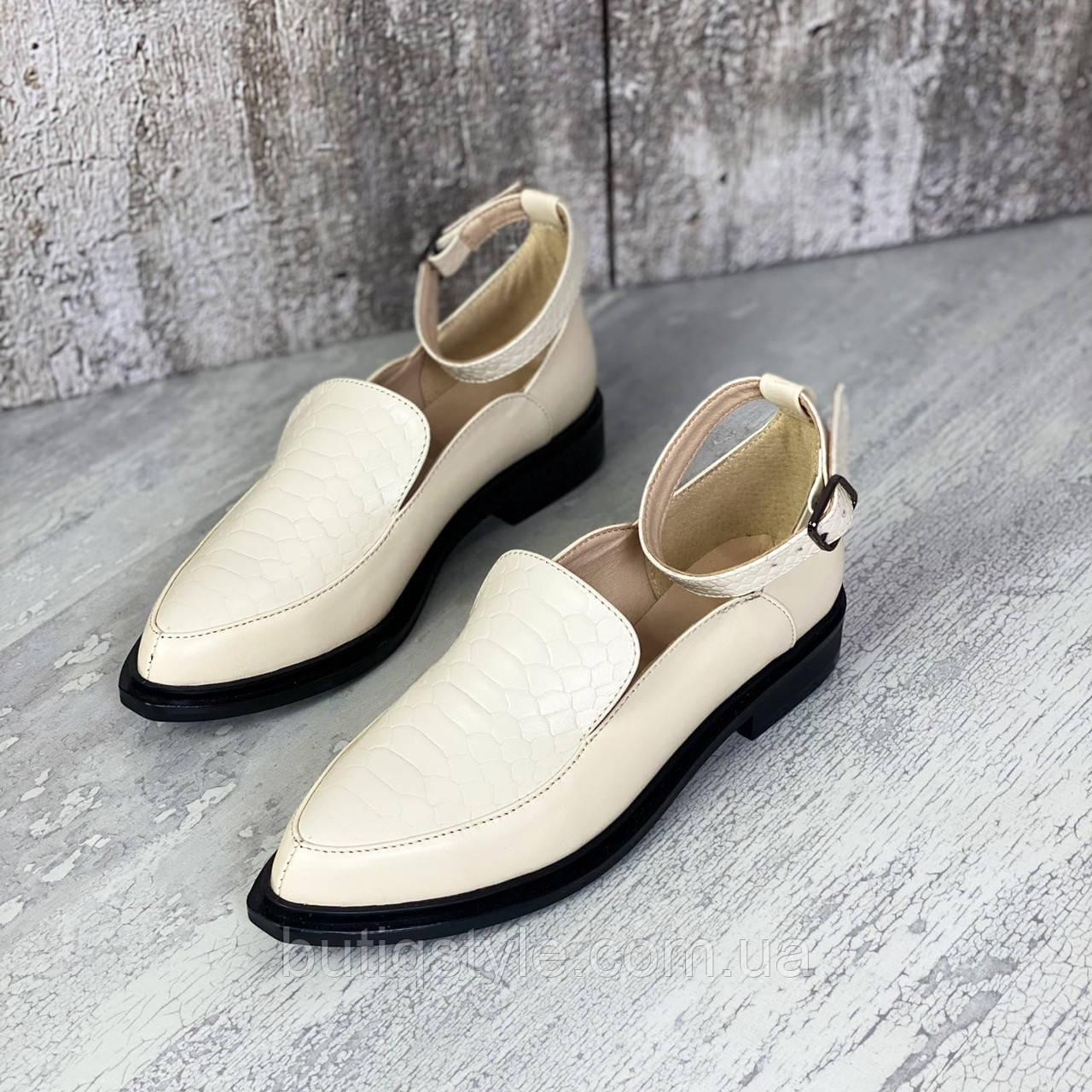 Жіночі туфлі пудра еко-шкіра на підборах
