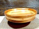 Деревянная сегментная  тарелка, конфетница,ваза для фруктов, фото 2