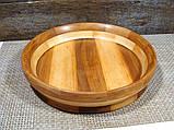 Деревянная сегментная  тарелка, конфетница,ваза для фруктов, фото 8