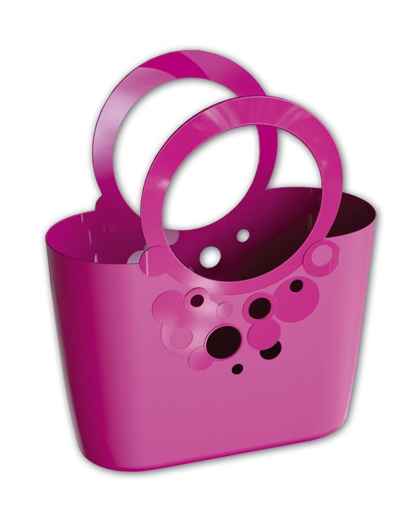 Сумка (кошик) LILY - рожева, мережива 21л, ITLI480 FUK