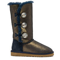 Натуральные угги UGG Australia (Угги Оригинал) UGG Bailey Button Triplet Bing Blue Gold. Model: 1873