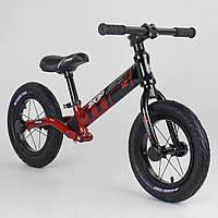 Беговел велобег Corso Skip Jack 44538 алюминиевая рама аммортизация заднего колеса