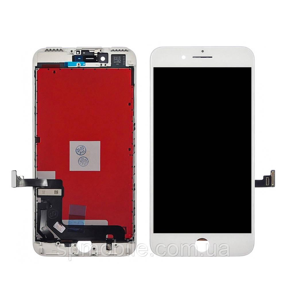 Дисплей iPhone 7 Plus, білий, з рамкою, з сенсорним екраном, high-copy