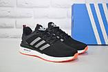 Кросівки чоловічі чорні нубук в стилі Adidas Iniki, фото 2