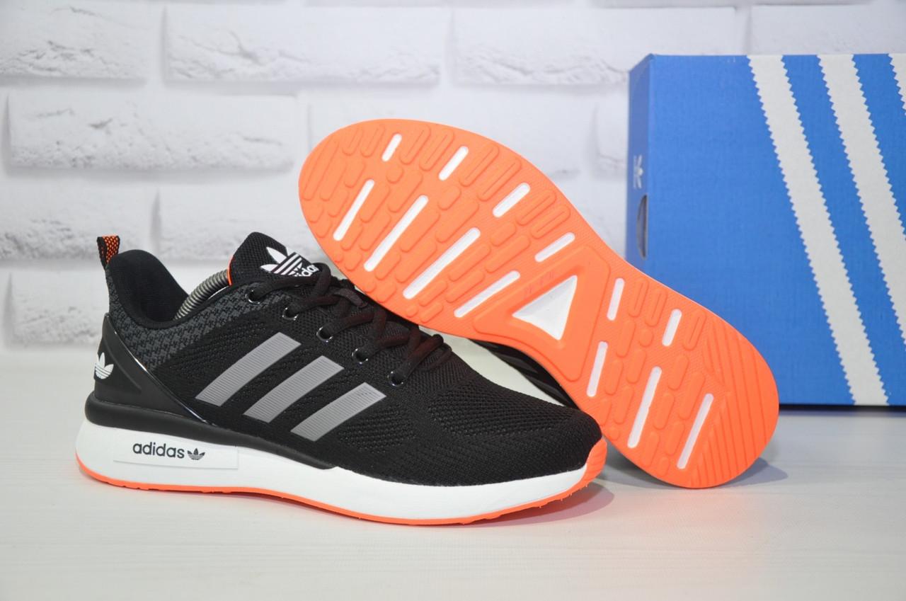 Кросівки чоловічі чорні нубук в стилі Adidas Iniki