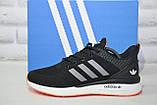 Кросівки чоловічі чорні нубук в стилі Adidas Iniki, фото 5
