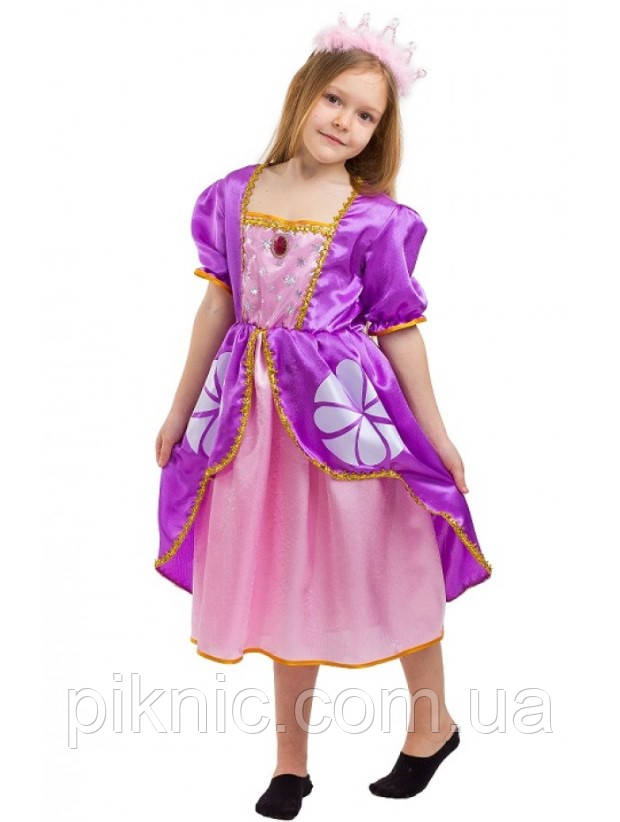Дитячий карнавальний костюм Софія для дівчаток 5-8 років Дитяче плаття Принцеси Софії