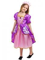 Детский карнавальный костюм София для девочек 5-8 лет Детское платье Принцессы Софии 344