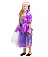 Детский карнавальный костюм Рапунцель для девочек 5-8 лет Детское платье Принцессы Рапунцель