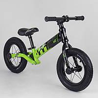 Беговел велобег Corso Skip Jack 95112 алюминиевая рама амортизация заднего колеса