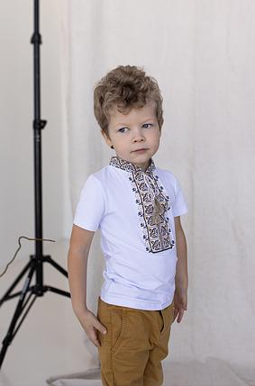 """Футболка з вишивкою для хлопчика """"Дем'ян"""", фото 2"""