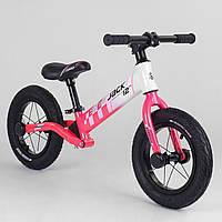 Беговел велобег Corso Skip Jack 25025 алюминиевая рама амортизация заднего колеса