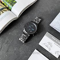 Часы  оригинальные мужские наручные кварцевый хронограф Megalith 8021M Black-Light Blue черного цвета, фото 3