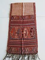 Женский  шарф с восточным рисунком и бахромой   Kapriz
