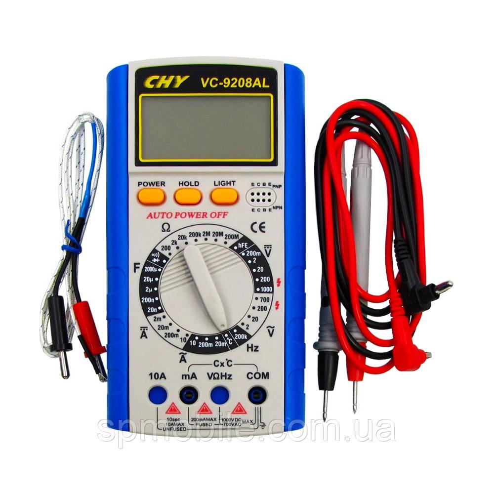 Мультиметр цифровий VC-9208AL (струм до 10А)