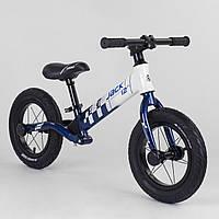 Беговел велобег Corso Skip Jack 93307 алюминиевая рама амортизация заднего колеса