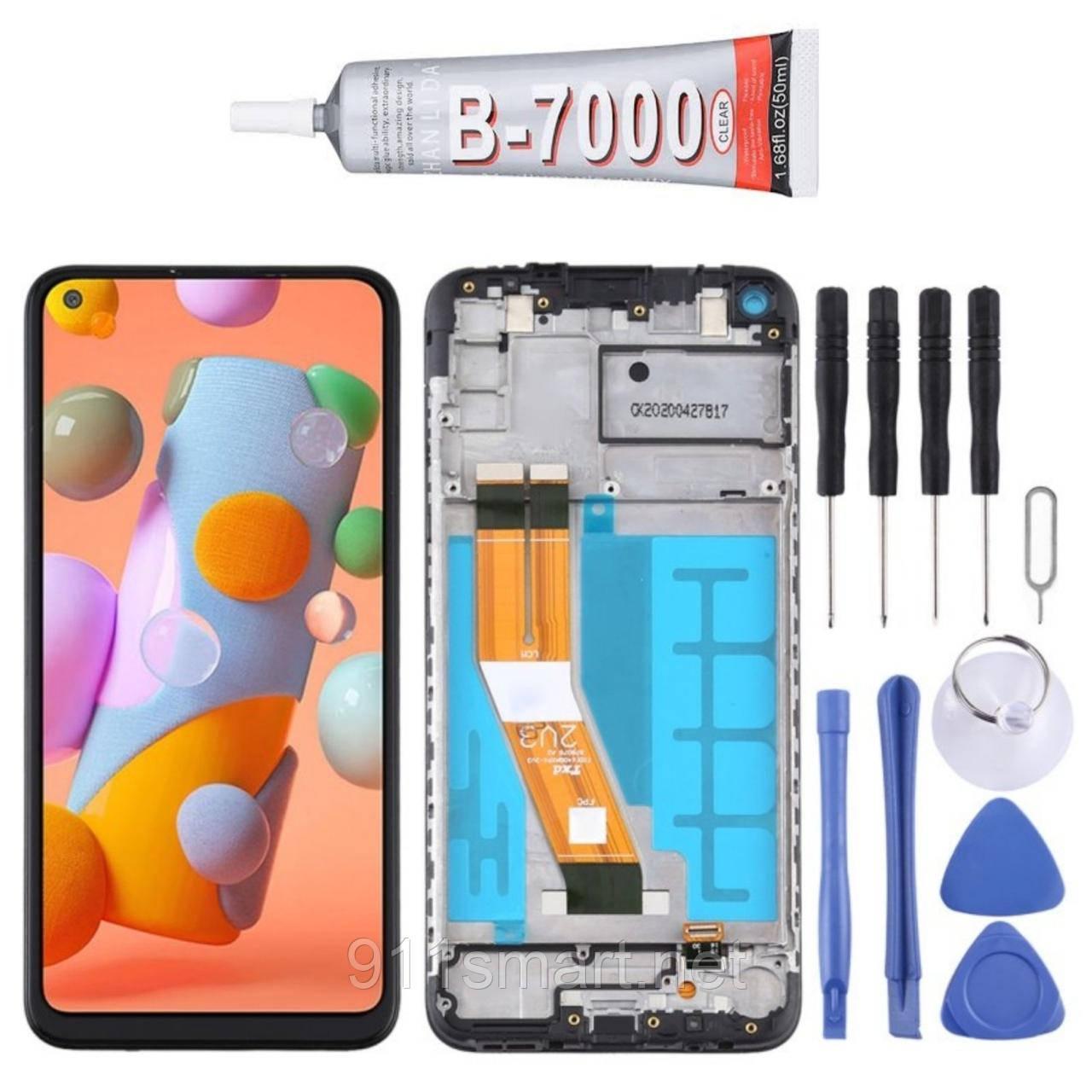 Дисплейный модуль с рамкой (LCD) Samsung Galaxy A11 (черный) SM-A115F / DS