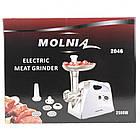 М'ясорубка електрична Molnia 2500 Вт універсальна електром'ясорубка з соковижималкою, фото 3
