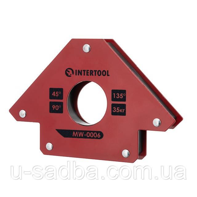 Держатель магнитный для сварки стрела, 45°, 90°,135°, 35 кг, 110×120×25 мм