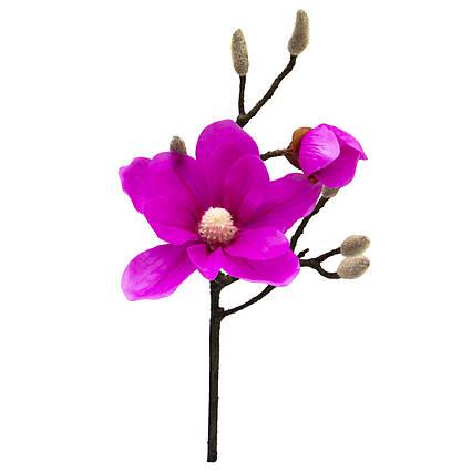 Искусственный цветок Магнолия, 45 см, розовый, ткань, пластик (631475)