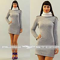 Теплое зимнее платье
