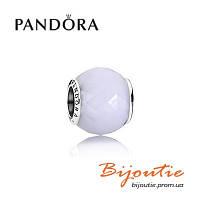 Pandora Шарм МОЛОЧНЫЙ ОГРАНЕННЫЙ КРИСТАЛЛ 791722NOW серебро 925 хрусталь Пандора оригинал