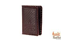 Кожаная обложка на паспорт с рельефом