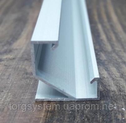 Угловой НЕАНОДИРОВАННЫЙ алюминиевый профиль для светодиодной ленты ЛПУ-17