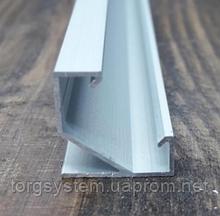 Кутовий НЕАНОДОВАНИЙ алюмінієвий профіль для світлодіодної стрічки ЛПУ-17