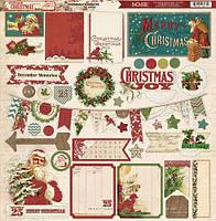 Чипборды My Mind's Eye - Vintage Christmas, 30х30, VC1012