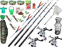 Подарок мужчине, Рыболовный набор Kalipso, набор спиннинг с катушкой, универсальный набор для рыбалки!